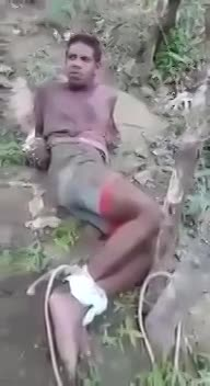 DISTURBING VIDEO SHOWS THIEF IN BRAZIL TIED UP AND BRUTALLY BEATEN - LiveGore.com