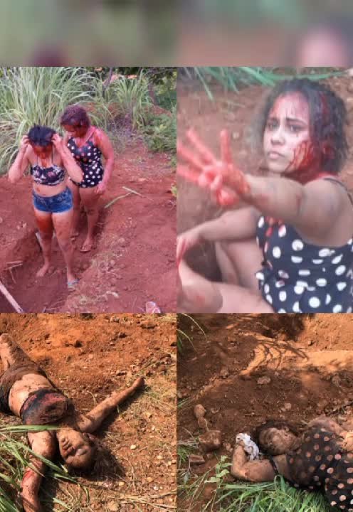2 girls are made to dug their own graves and then killed by rival faction - LiveGore.com